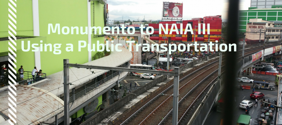 Monumento to NAIA III using a public transportation