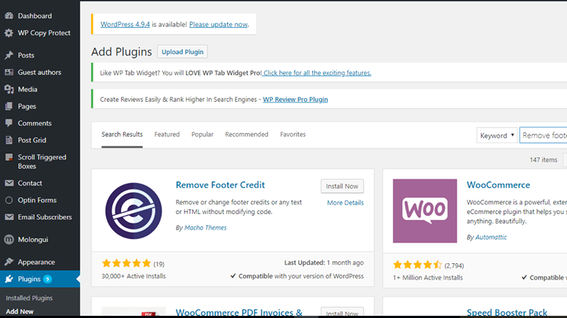 How To Remove and Customize Footer Credit in WordPress